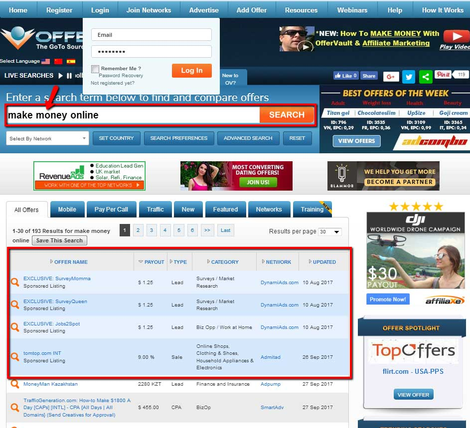 Right CPA Offers Search