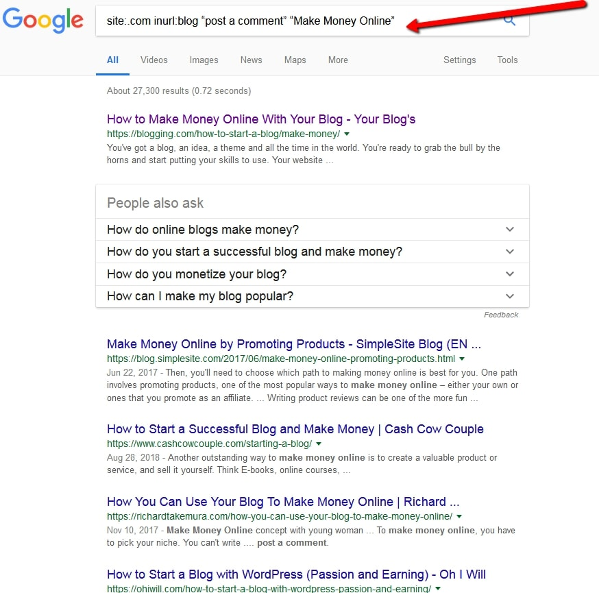 Ways of finding relevant blog posts