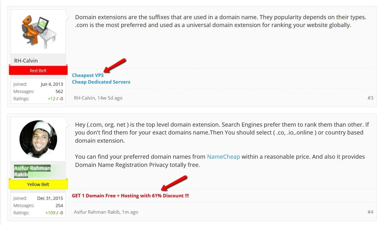 Forum Signature Option