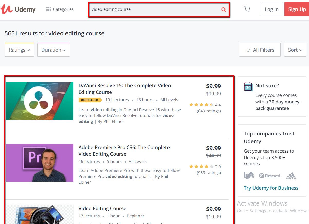 Udemy Video Editing Courses