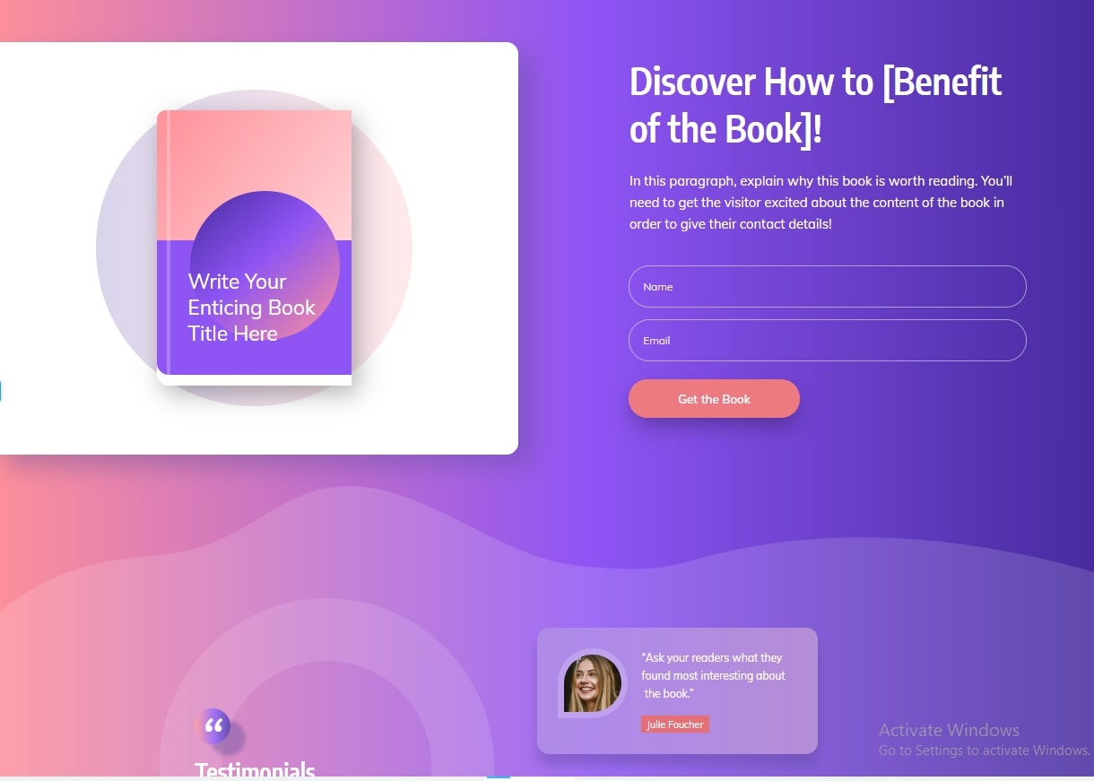 Ebook Smart Landing Page Review of Thrive Architect