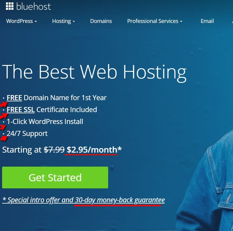 Bluehost Price and Features