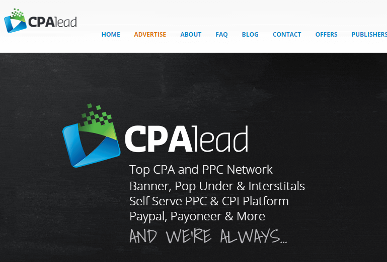CPALead is a CPA Network for beginners
