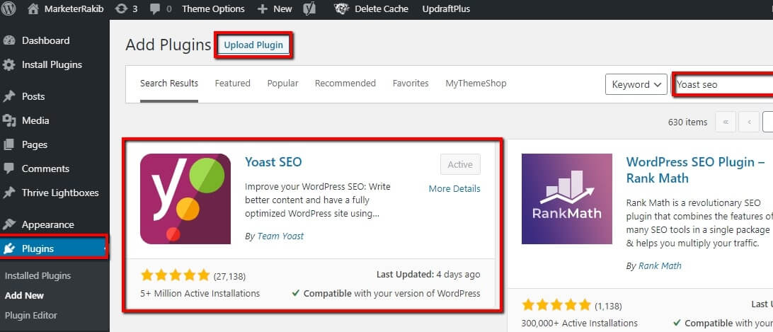 How to Active Yoast SEO plugin on WordPress