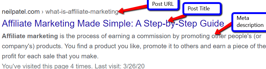 SEO tag example