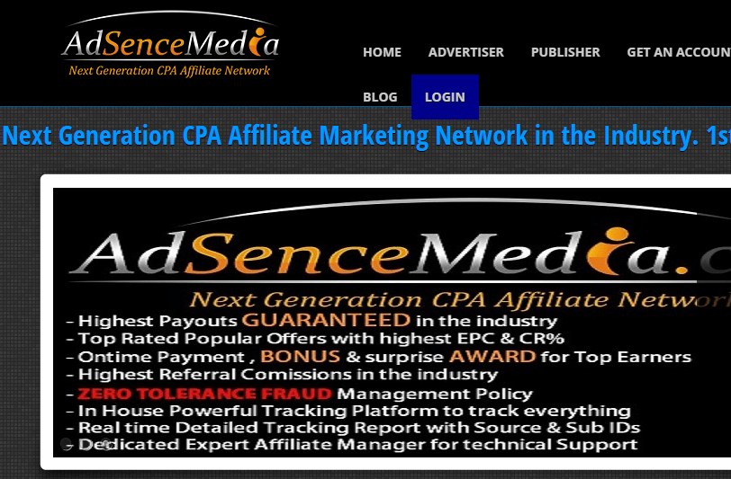 Adsence media is CPA network for beginners