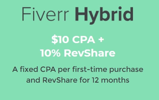 Fiverr Affiliate Heybrid Commission