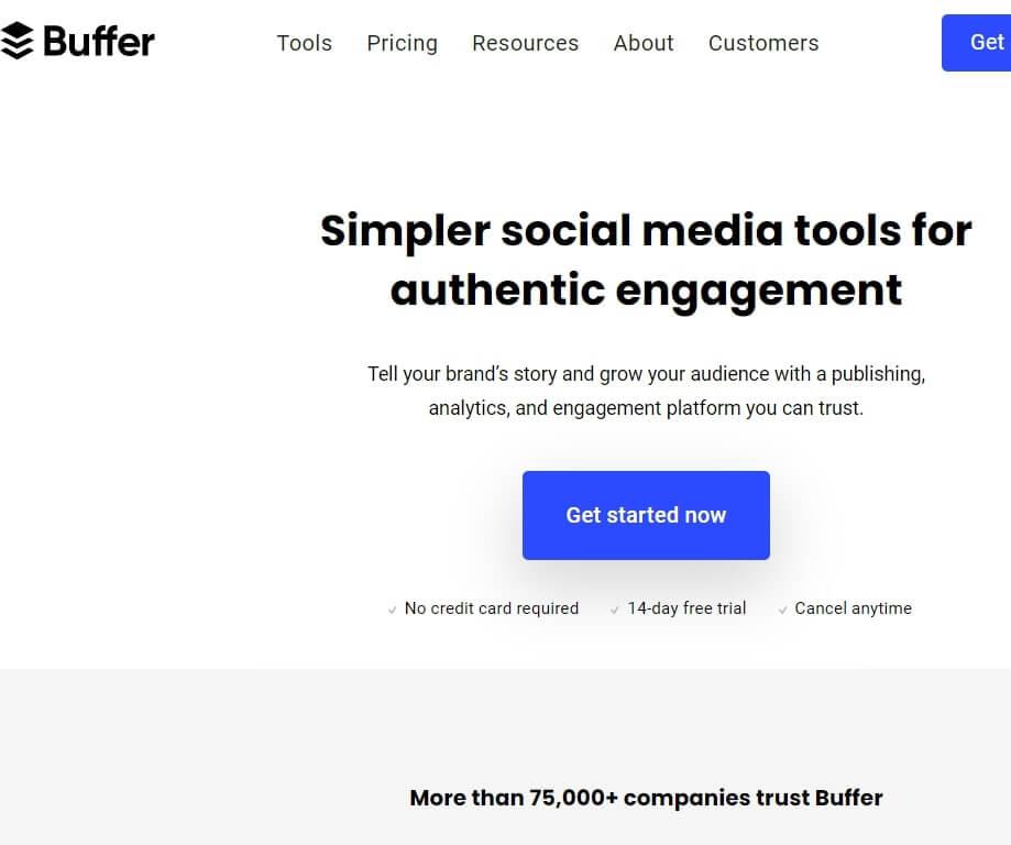 Best Social Media Management tool Buffer