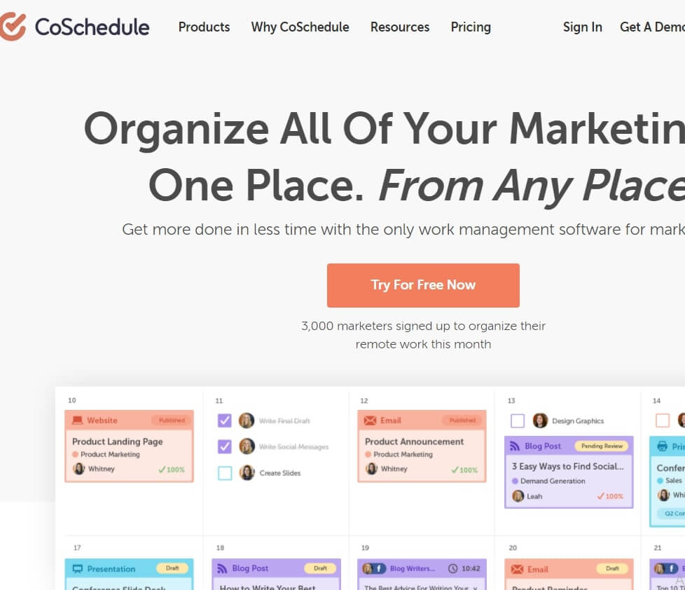 CoSchedule is the best Social Media Tool
