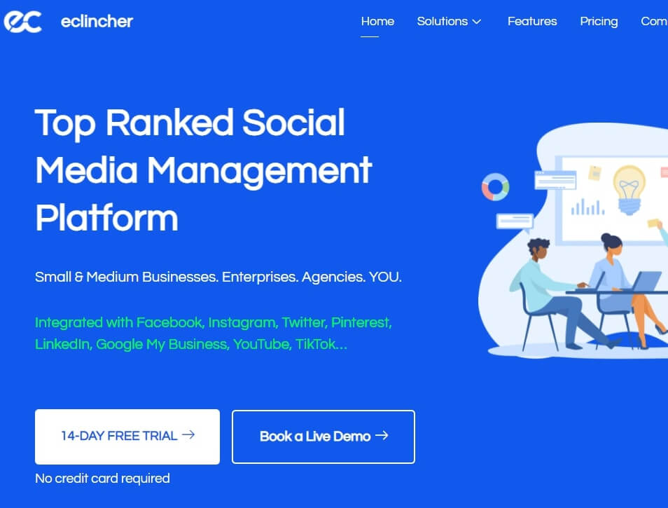 eClincher Is The Best Social Media Management Tools