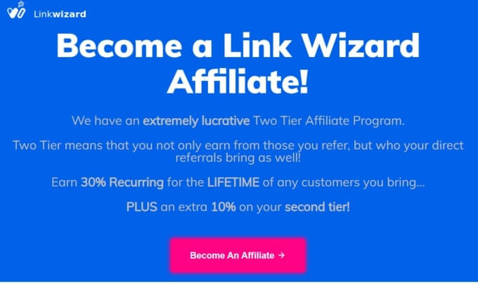 Link Wizard Affiliate Program for Two Tier