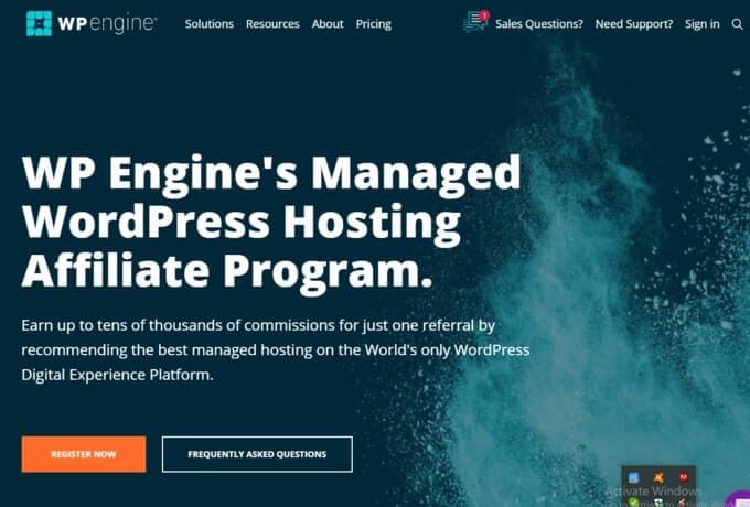 WP Engine affiliate program
