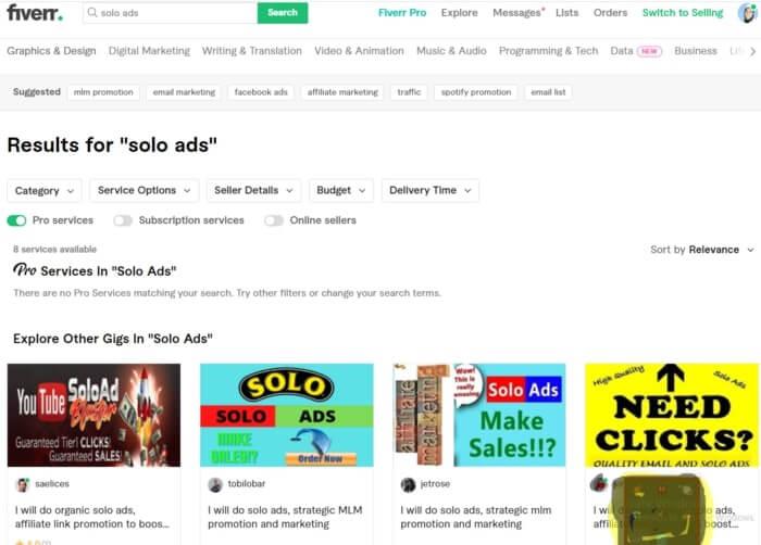 Fiverr For Solo ads