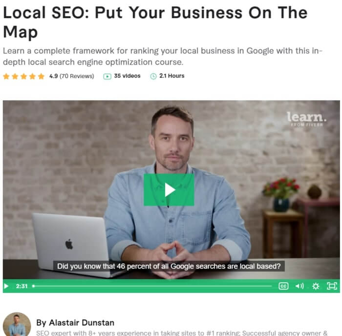 Best Local SEO Courses by Fiverr